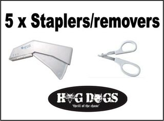 Pig Dog Staplers x 5