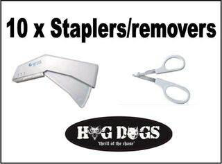 Pig Dog Staplers x 10