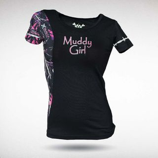 Muddy Girl® Camouflage Edge Womens T Shirt