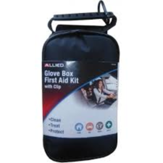 Glove Box First Aid Kit with Clip
