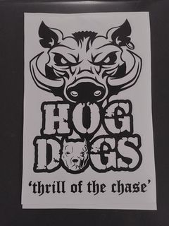 Hog Dogs Sticker 15 x 24cm