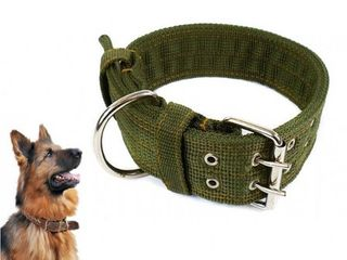 Heavy Duty Olive Canvas Collar - 66cm